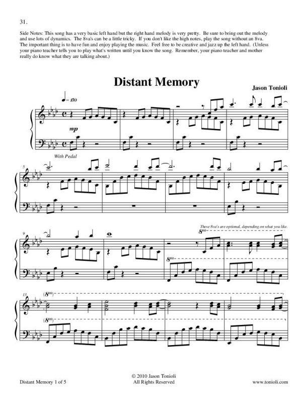 Distant Memory Page 1