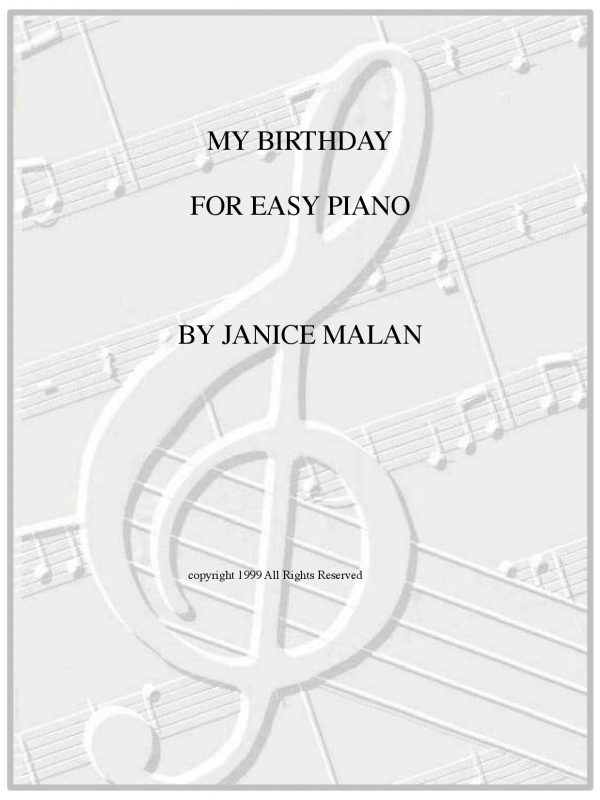 My Birthday for easy piano-1