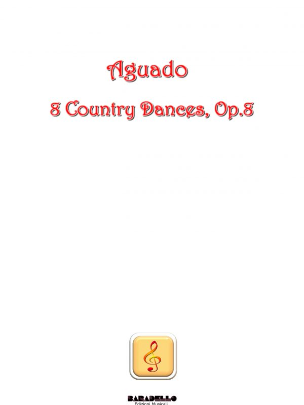 Aguado - 8 Country Dances, Op.8 copertina