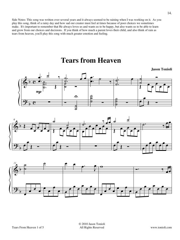 Tears From Heaven Page 1