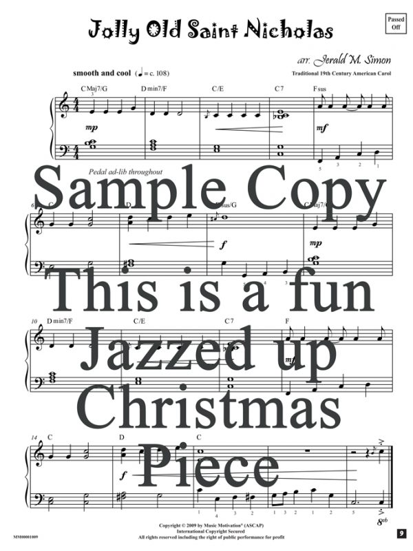 jolly old saint nicholas piano pdf