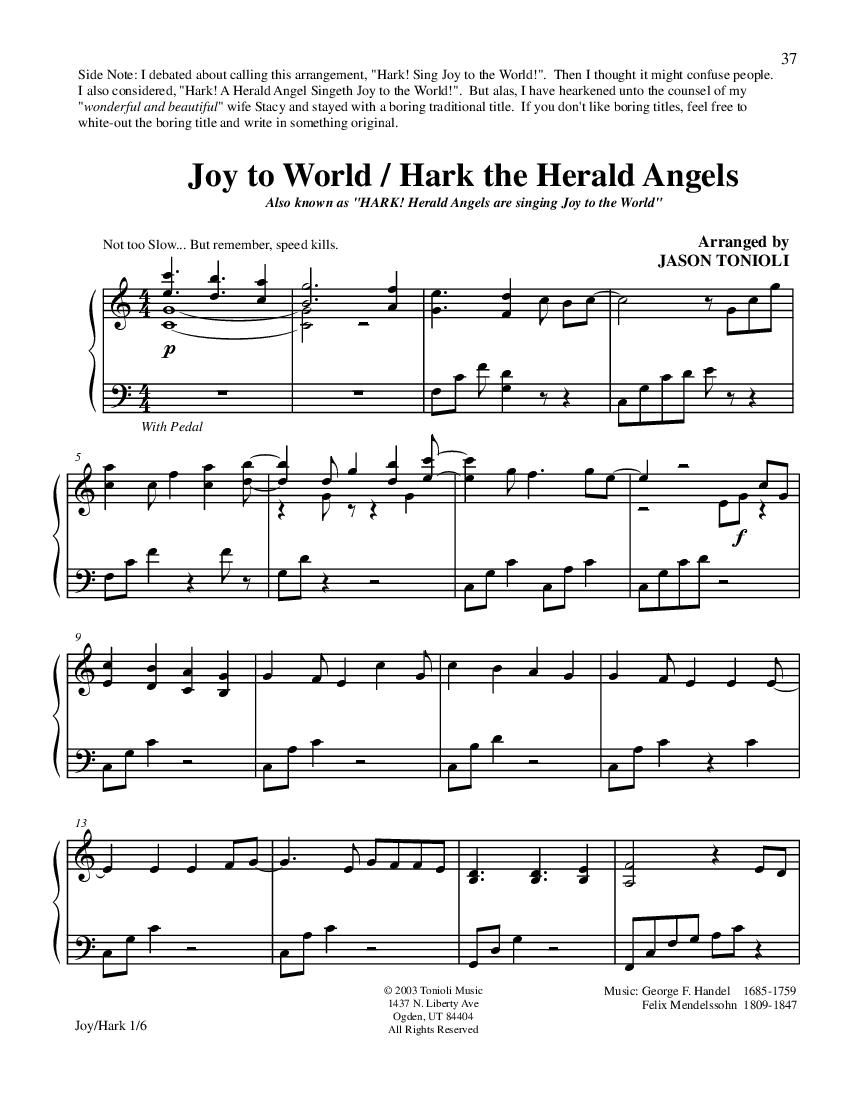 Joy to the world hark the herald angels sing noterunner joy to the world hark the herald angels page1 hexwebz Gallery