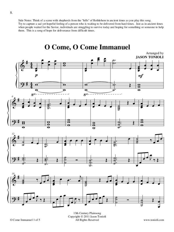 Oh Come Oh Come Immanuel page 1