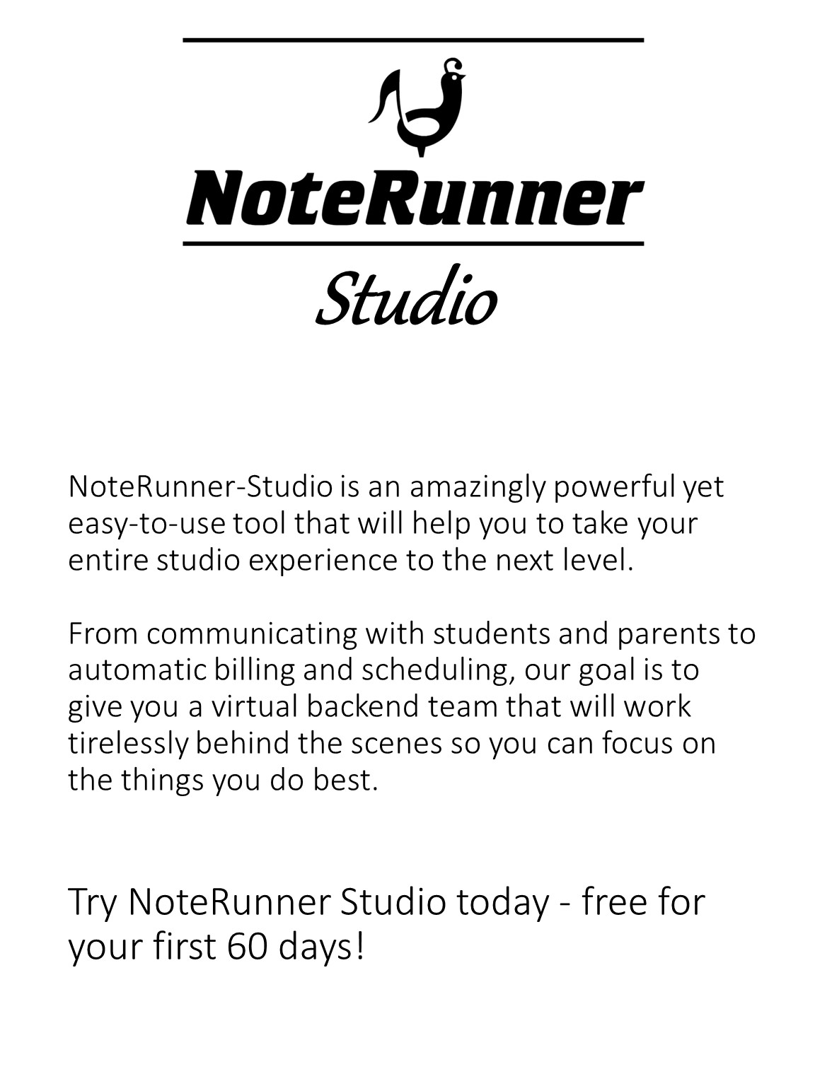 NoteRunner Studio - Preview Image - 60 day trial