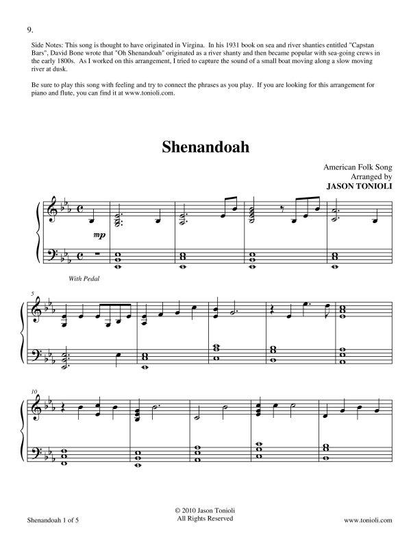 All Music Chords sheet music shenandoah : Vendor - NoteRunner
